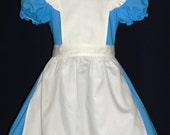 Alice in wonderland Dress with Apron and head band. Size 9,10,11,12