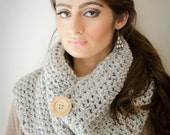 savvystuff signature x-over cowl in heather for him or her