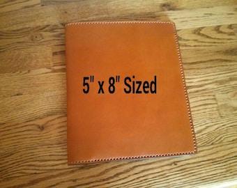 5 x 8 Sized Leather Portfolio Notebook - Handmade in USA