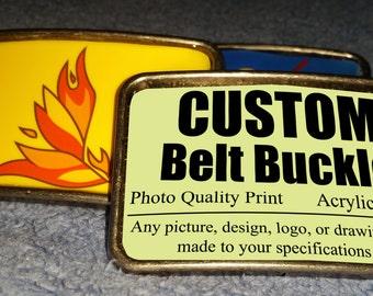Custom Image Belt Buckle