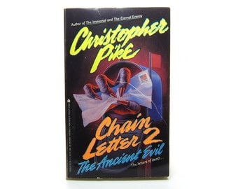 Chain Letter 2 Book by Christopher Pike Book Vintage 1992 Teen Psychological Thriller, The Ancient Evil