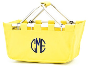 Monogrammed Market Tote Yellow