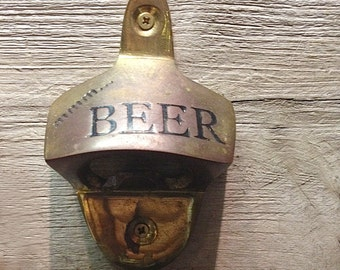 Coastal Decor Beer Opener Solid Brass by SEASTYLE