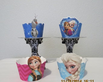 Frozen Cupcake Wrappers (Set of 12)