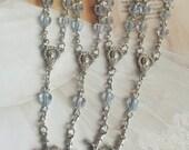 25 pcs  First communion favors / Mini  blue Rosary Baptism Favors / Baptism favors / Religious Mini Rosary / Narelo