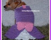 Sofia Dog Dress - Custom made to fit your small Dog 2-15 lbs