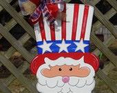 Patriotic Door Hanger, Uncle Sam Door Hanger, 4th of July, Americana, USA