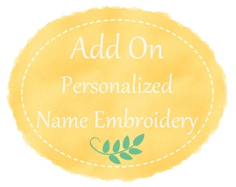 Personalized name / initial embroidery for your clutch