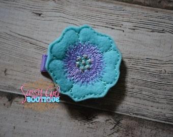 Spring-Summer-Garden-Felt Hair Clip - Baby Girl Hair Accessories -Embroidered Felt Flower Hair Feltie Clippie For Girls-No Slip Grip