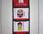 3 pocket Disney Cruise Fish Extender Beauty and The Beast Themed