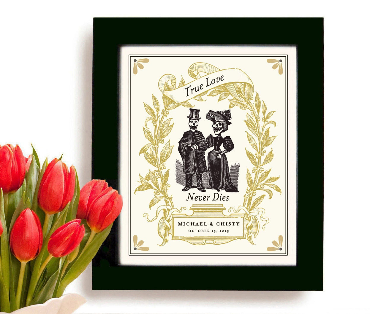 Unique Wedding Gifts For Couples: Unique Wedding Gift For Couples Personalized Art Print Day Of