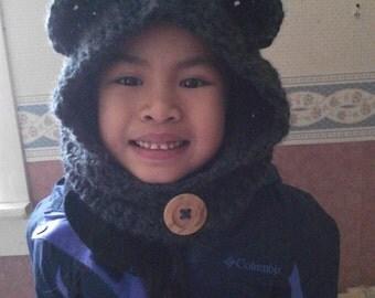 Crochet Children Cowl Hat, Children Hood Cowl Hat, Hood, Cowl Hat - Made to order