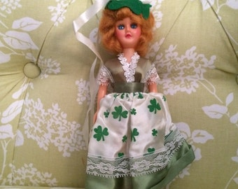 CLEARANCE Vintage Doll of Ireland, Dolls From Around the World, Doll in Costume, Dolls of the World