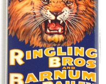 Circus Lion Fridge Magnet