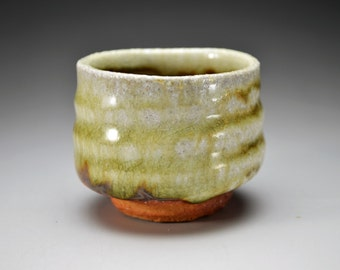 Shigaraki, anagama, ten-day anagama wood firing, with natural ash deposits sake cup. gui-02