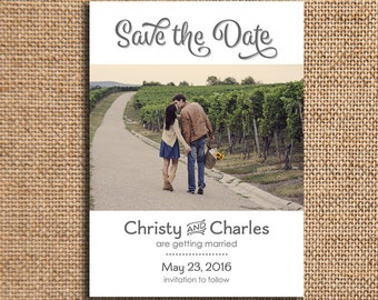Set of 20 Wedding Save the Date - 5x7 Cardstock - Pathways