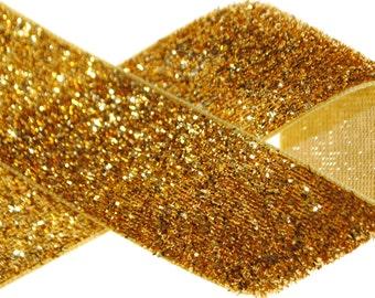"1"" Metallic Glitter Ribbon - Two, Five, Ten, Twenty, or Fifty Yards"