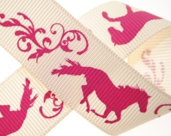"7/8"" Colt Printed Grosgrain - Three, Five, or Ten Yards"