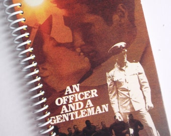 An OFFICER and a GENTLEMAN notebook journal spiral bound Made from the VHS movie