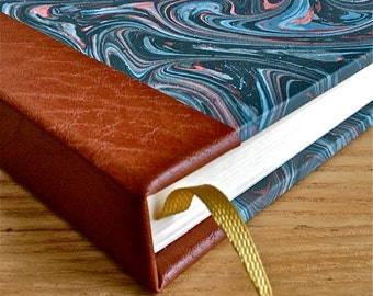 Olde Worlde Leather & Marble Any Year Diary - PERSONALISED