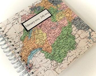 "Switzerland, Large Customized Travel Journal, 8"" x 8"""