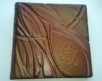 Photo Album - Handmade Art Leather Gift Present Cover Personalized #5