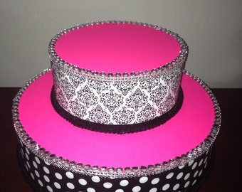 Cake stand/Topper Centerpiece display/Party/Table Decoration with bling rhinestones