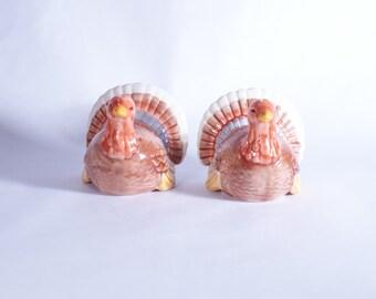 Salt Pepper Turkey Shakers Thanksgiving Vintage And Set Korea Shaker Ceramic Turkeys Tom Hen Holiday Made