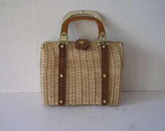Small Wicker Simon Hand Bag