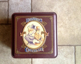 Reproduction of Vintage Hersheys Chocolate Tin Box