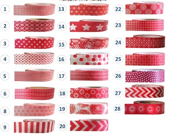 Washi Tape - RED Colelction