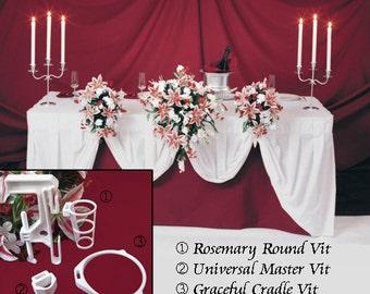 3 BOUQUET DISPLAYS - Wedding Reception Table Decoration Flower Holders. Bouquet Holder Holds Your Bridal Bouquet.