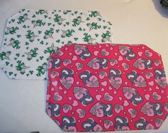 Anti- Valentine's Day/ St. Patrick's Day Placemats (Set of 4)