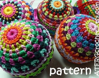 Crochet pattern Christmasball by ATERGcrochet