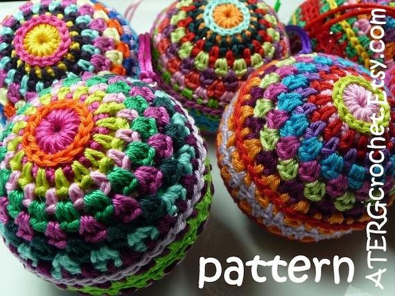 Crochet pattern Christmasball by ATERGcrochet