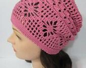 Crochet Slouchy Beanie Summer Slouchy Hat Women Slouchy Hat Slouchy Women Beanie Knitted Oversized Slouchy Beanie Gift under 50