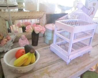 shabby chic pink  Vintage wood  birdcage shabby  prairie cottage farmhouse
