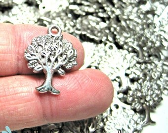 Tree of Life Antique Silver Charms (10)