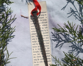 hand forged Christmas nail ornament