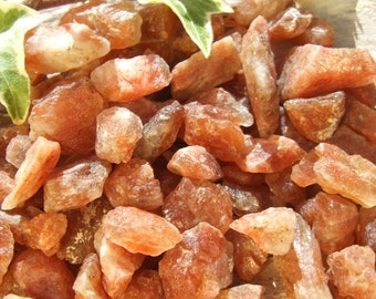 Sunstone Golden Orange Crystal Natural Raw Rough Mineral Rock Stone, 5g, 10g or 25g, 7-22mm INDEPENDENCE ~ ABUNDANCE ~ SEXUALITY ~ Tantric