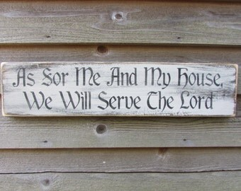 primitive sign, rustic sign, sign, hand painted sign, wood sign, inspirational sign, scripture sign, religious sign, family rules, home