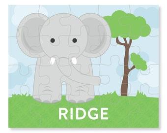 Elephant Puzzle - Personalized Puzzle for Kids - Jigsaw Puzzle - Children Puzzles - Personalized Name Puzzle - 8 x 10 puzzle, 20 pieces