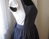 100% cotton navy blue kitchen apron
