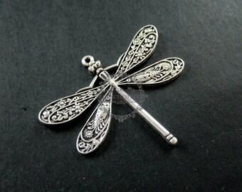 6pcs 40x50mm vintage style antiqued silver big dragonfly DIY pendant charm supplies 1830048