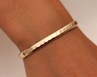 Thick Hammered Cuff Bracelet, Yellow Gold Filled (352.ygf)