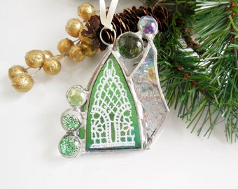 Tiny Little House. Suncatcher, Christmas ornament