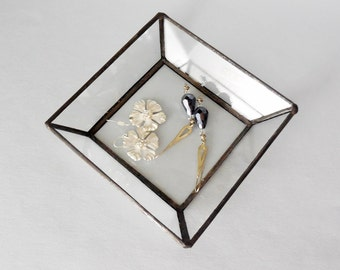 Glass Jewelry Tray For Your Treasured Keepsakes Or Jewelry.