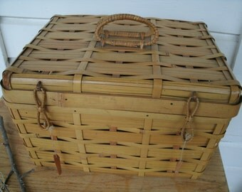 Vintage Japan Bamboo  Basket