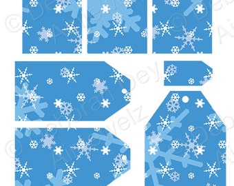 Christmas tags Frozen snowflake  Gift Tags frozen tags Instant Download Printable tags snow gift tag scrapbooking tags craft tags hang tag