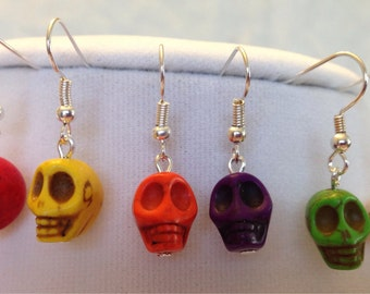 Your Choice Colorful Skull Earrings